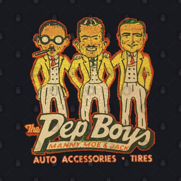 Manny Moe and Jack - Pep Boys - Baseball T-Shirt | TeePublic