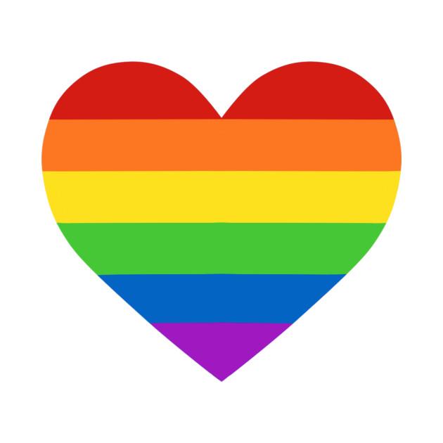Rainbow Heart - Pride - T-Shirt   TeePublic