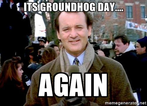 Goal Groundhog Day   Rick Manelius