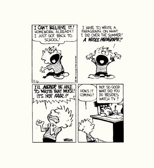 Calvin and hobbes and Paragraph on Pinterest
