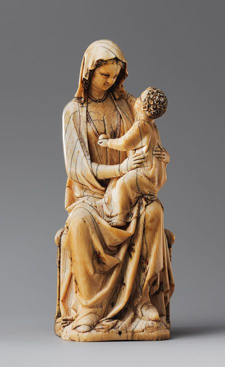 Enthroned Virgin and Child [French] 1260-1280. Carved ...