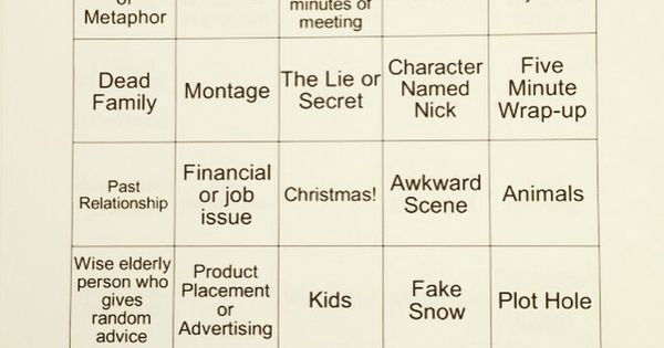 Christmas Hallmark movie Bingo! | Holidays | Pinterest ...
