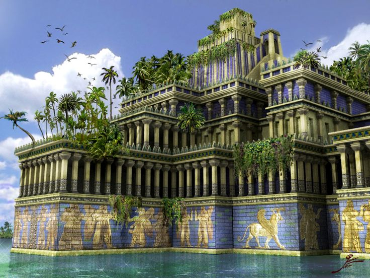The Hanging Gardens of Babylon. - one of the original ...
