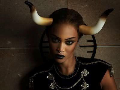 Tyra banks baphomet devil horns | signs symbols ...