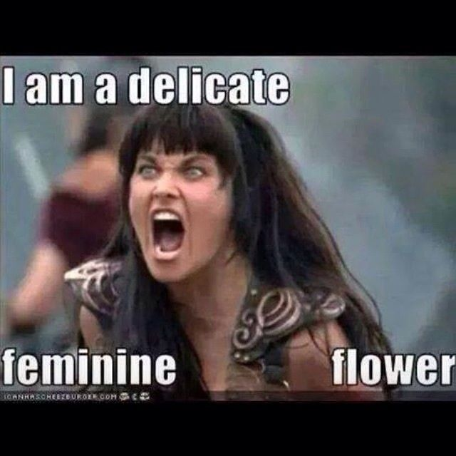 I am a delicate feminine flower sarcastic meme for wife ...