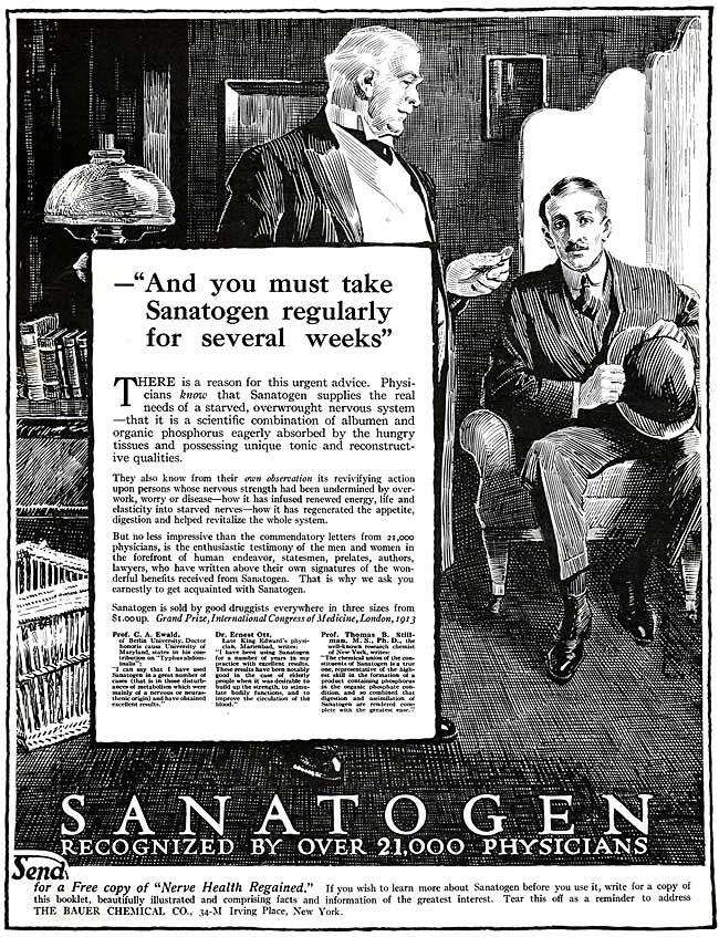 Sanatogen Nerve Tonic -1915   Pills and potions, creams ...