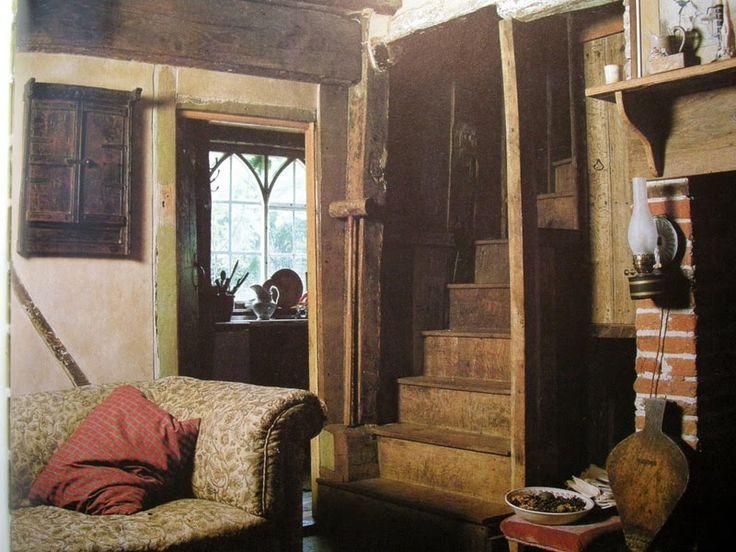 Small English Tudor Interior | ... cottage hearth. What a ...