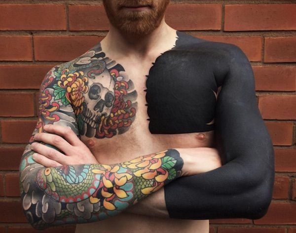 Best 25+ Solid black tattoo ideas on Pinterest