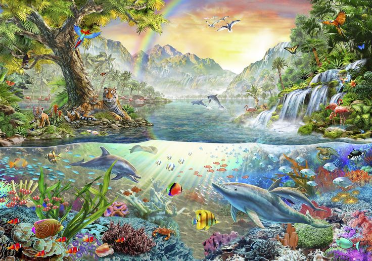 Dolphin Utopia #jigsaw #puzzle | New Spring Collection ...