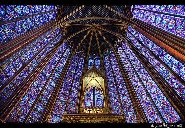 Sainte-Chapelle, Paris, built circa 1240 to house the ...