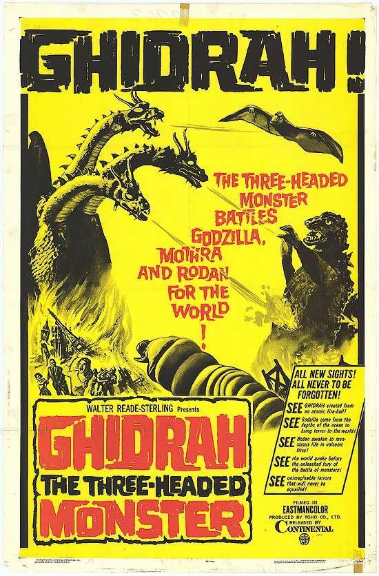 Ghidorah, the Three-Headed Monster, released in Japan as San Daikaijū: Chikyū Saidai no Kessen ...