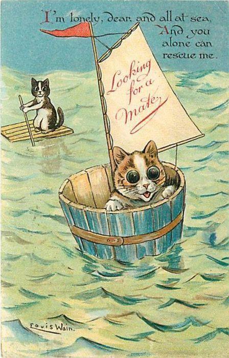 Louis Wain cat valentine