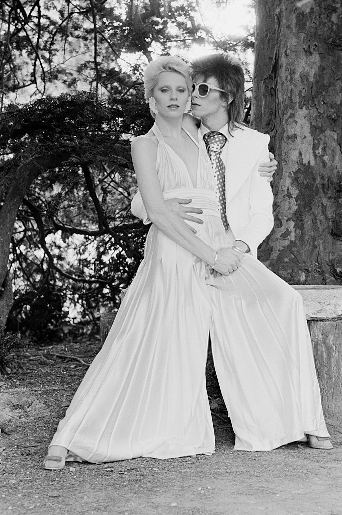 David and Angie Bowie, wedding day. they would be married ...