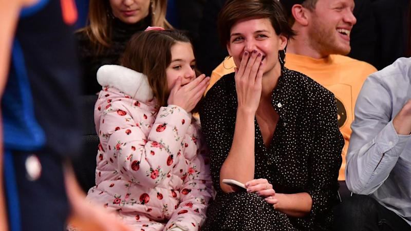 Katie Holmes and Suri Share an Adorable Laugh Together at ...