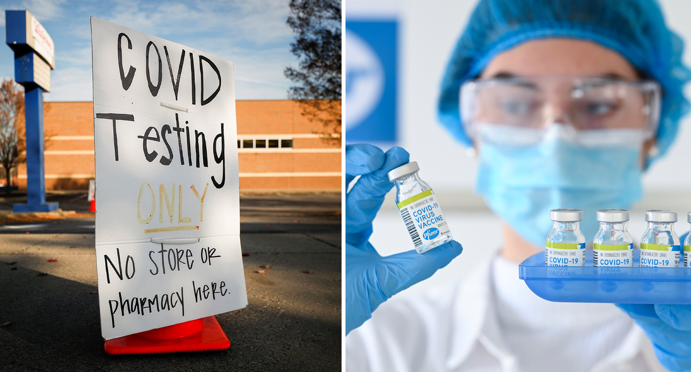 First batches of Covid-19 vaccine are rushed to the US