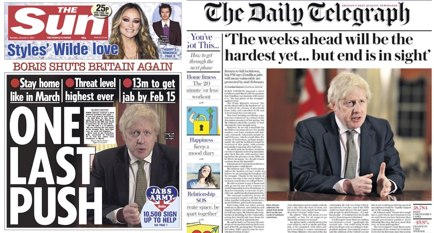 'One last push': How the national media reacted to England ...