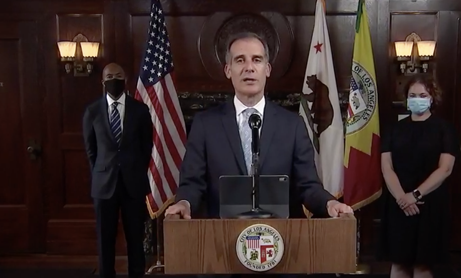 Los Angeles Mayor Eric Garcetti, City Officials Cutting $100 Million-$150 Million From LAPD Budget, Funds To Be Reinvested In Communities Of Color…