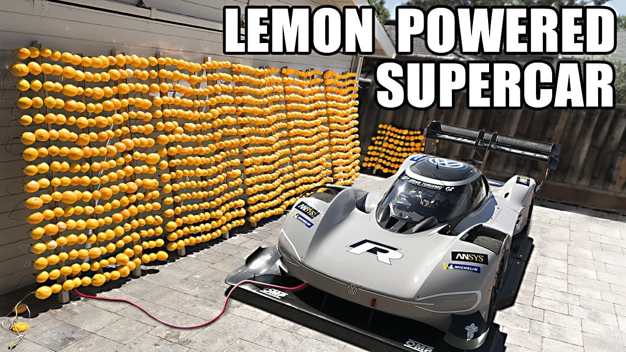 Insane Lemon Battery Used to Power Volkswagen Electric ...