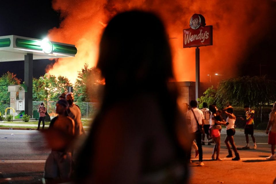 Protesters burn down Wendy's in Atlanta after police ...