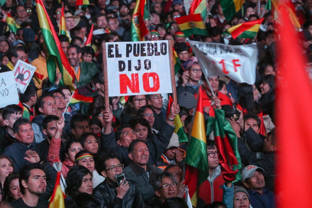Miles de bolivianos claman contra Evo Morales a pocos días ...
