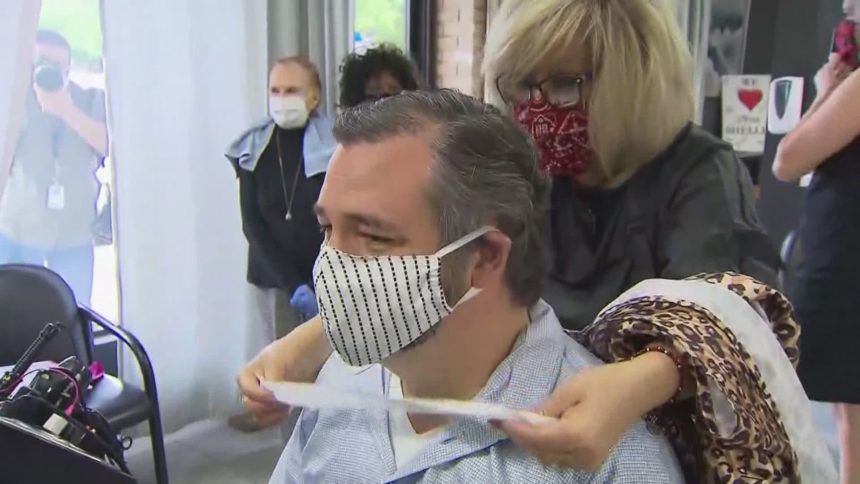 Ted Cruz gets haircut at Dallas salon where owner was jailed..