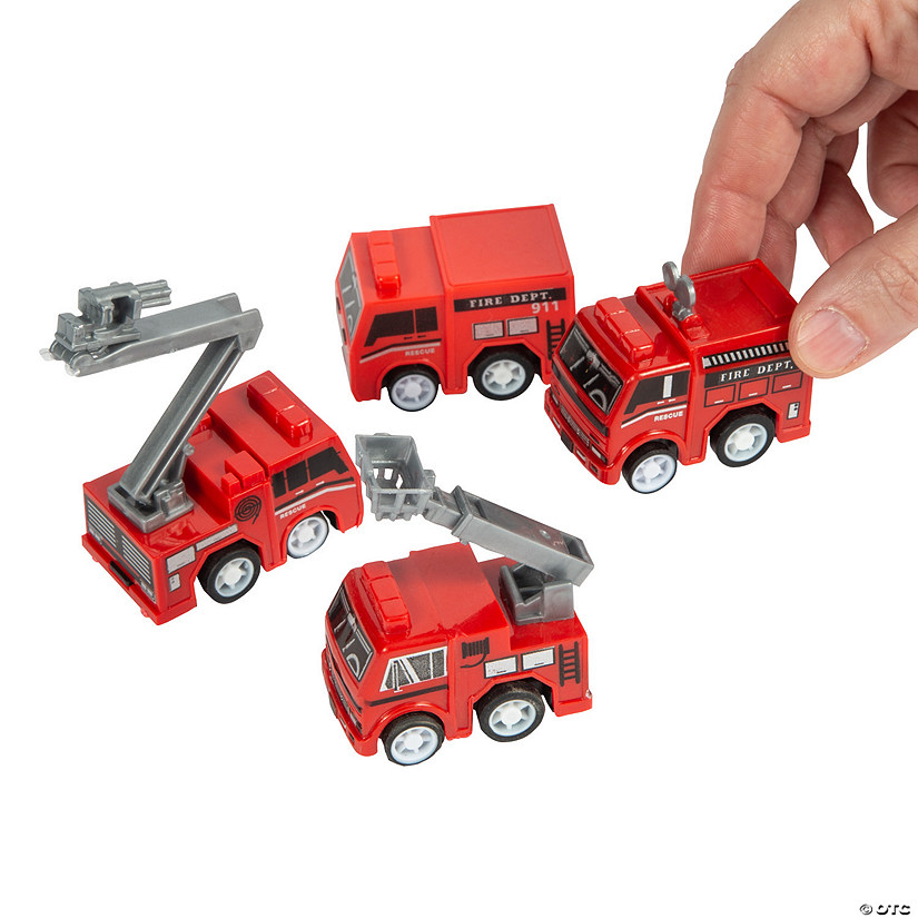 Fire Truck Pull-Back Toys | Oriental Trading