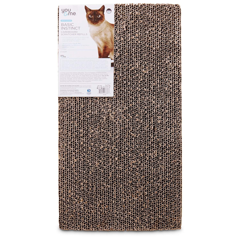 You & Me Double Wide Cardboard Cat Scratcher Refills | Petco