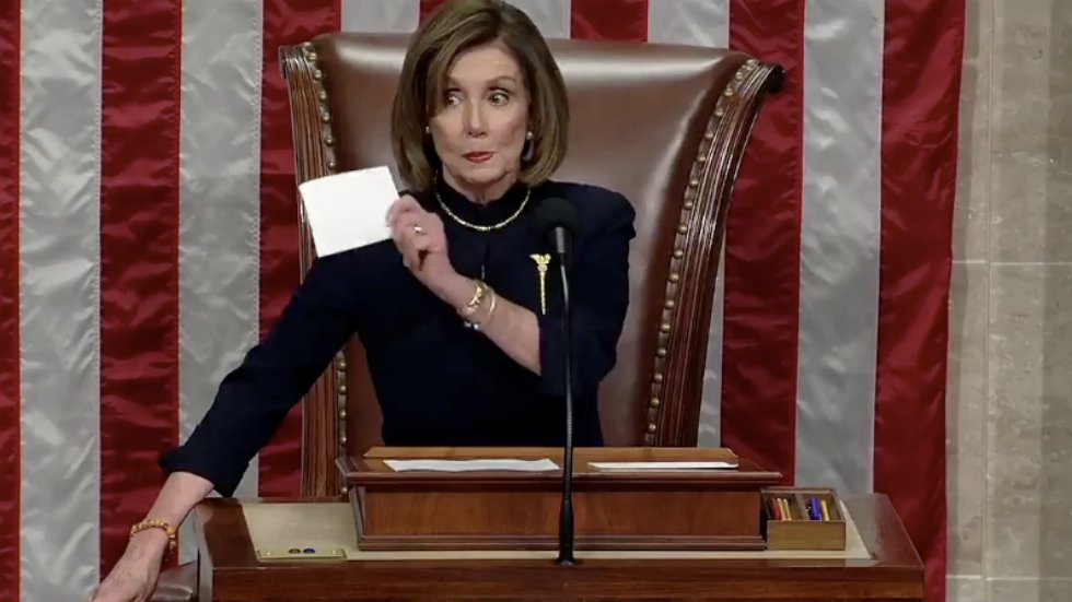 Pelosi threatens to withhold impeachment from Senate in exchange for incriminating her political ...