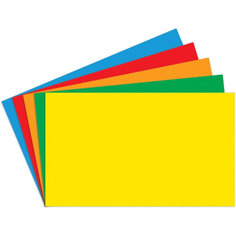 Index Cards Blank - 3 x 5 Primary Asst., 100ct - TOP3660 ...
