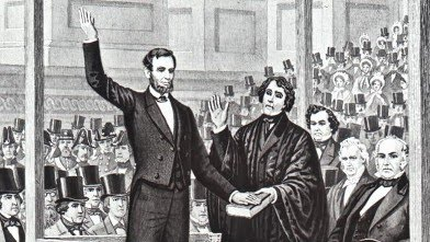 Lincoln Sworn in for First Presidential Term (1861 ...