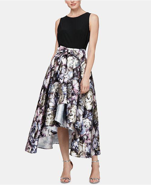 SL Fashions Solid & Printed High-Low Dress & Reviews ...