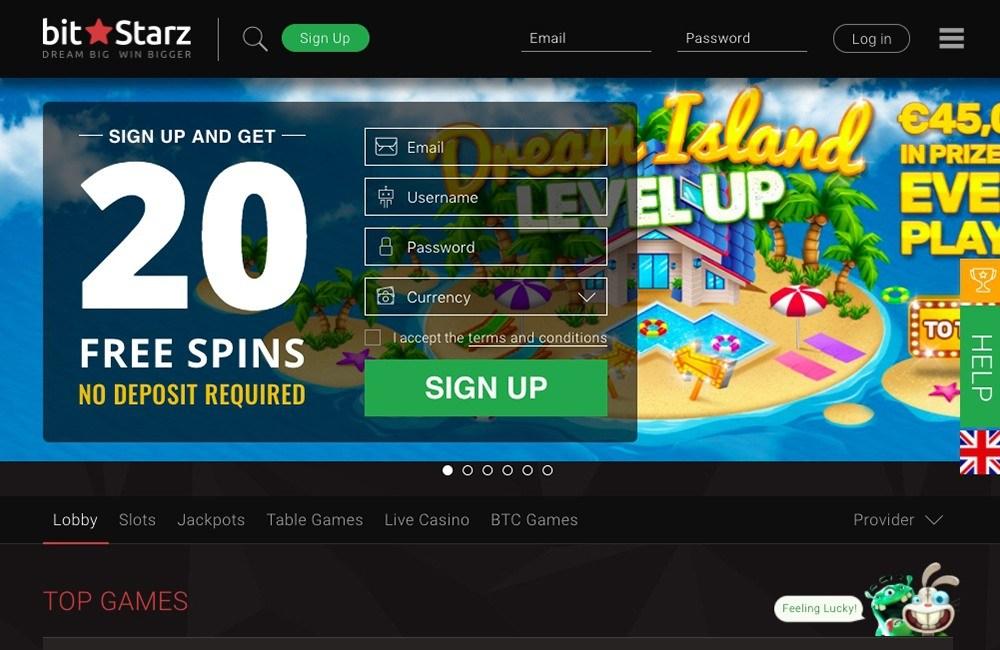 进入BitStarz赌博场所的游戏。