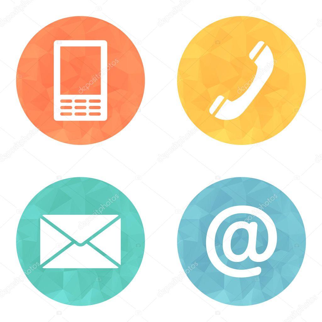 Контактная Иконка кнопки set - конверт, мобильный, Телефон ...