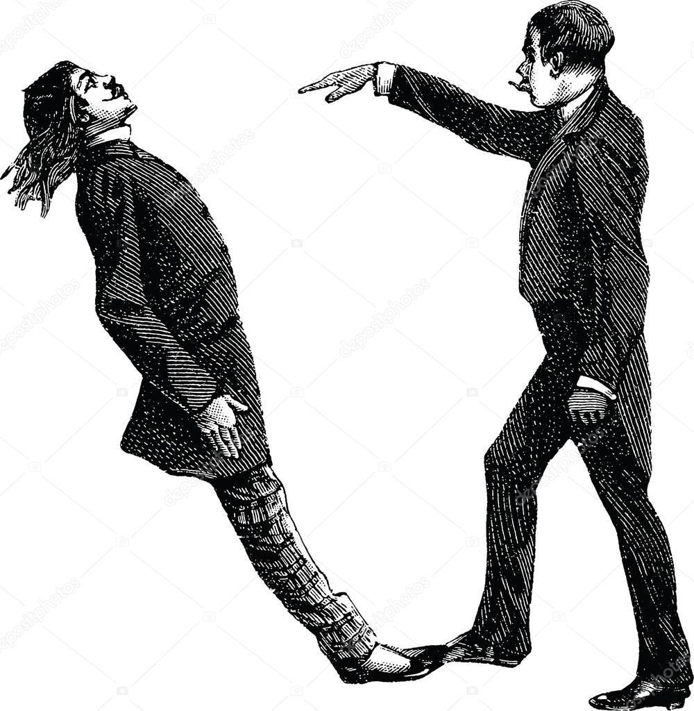 Clipart: hypnotist   Vintage image hypnosis — Stock Photo ...
