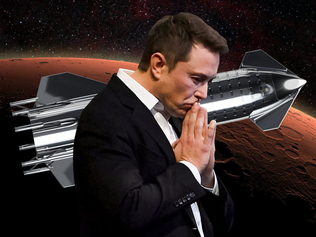 Elon Musk says he plans to send 1 million people to Mars by 2050 by launching 3 Starship rockets every day and creating 'a lot of jobs' on the red planet…
