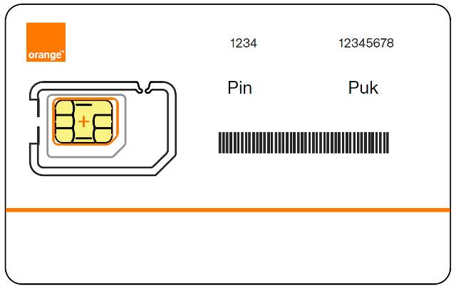 Les informations de sécurité d'une carte SIM: le PIN et le PUK