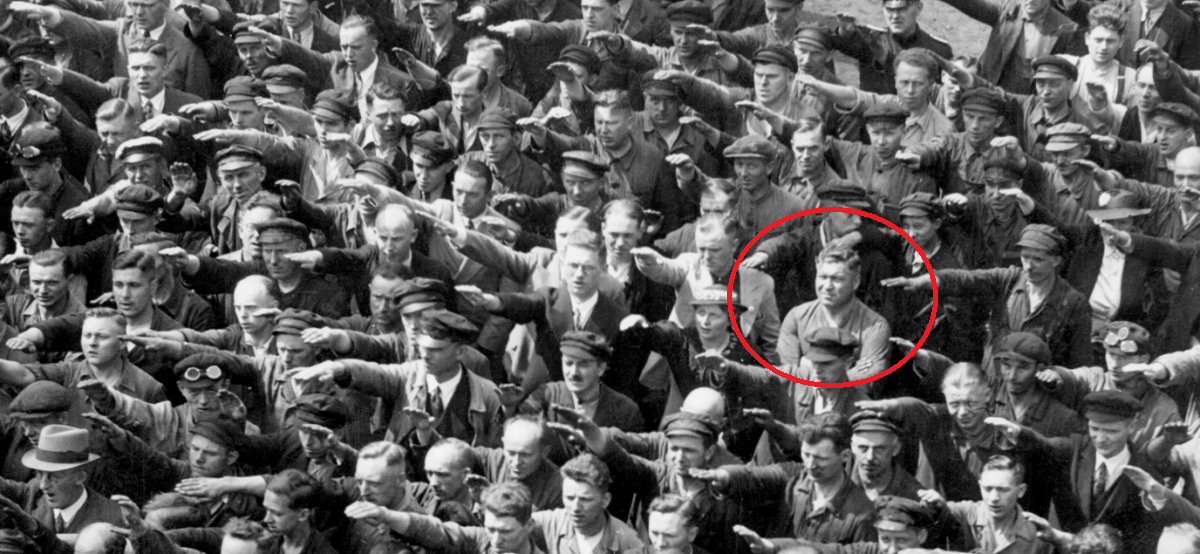 The tragically powerful story behind the lone German who ...
