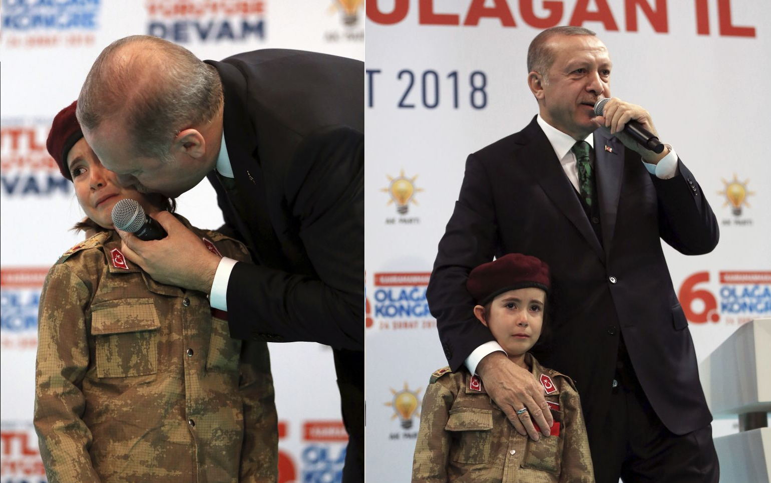 Turkey's Erdogan tells crying six-year-old child she would be honoured to die a martyr on live TV…