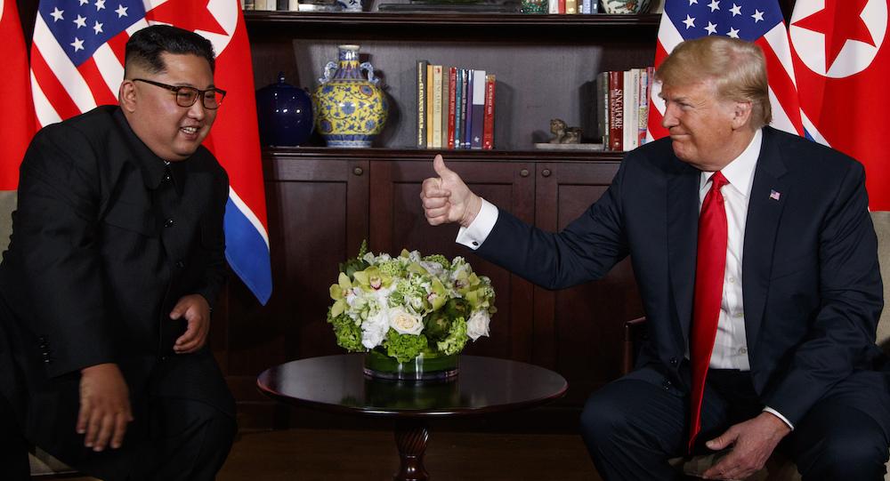 So the Donald Trump, Kim Jong Un handshake happened. Now ...
