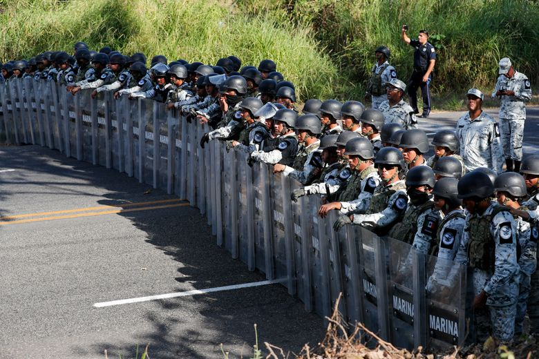 Some see end to caravans as Mexican guardsmen stop migrants…