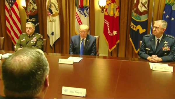 President Trump Holds Meeting With Joint Chiefs of Staff and National Security Team at the White House…