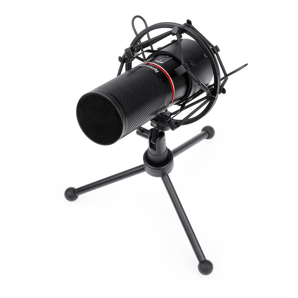 Microfone Blazar Gm300 Redragon USB para podcast