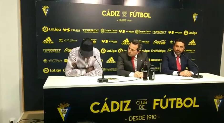 Declaraciones de Momo Mbaye sobre su contrato con el Cádiz