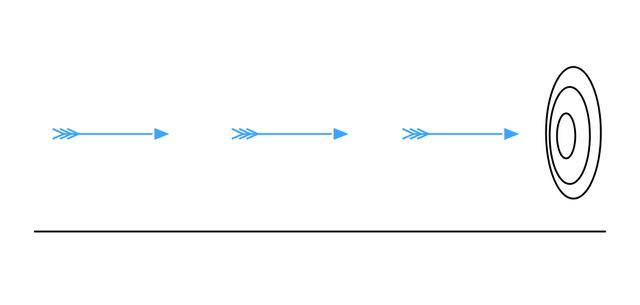 Zeno's paradox of the arrow or atomism vs. continuum