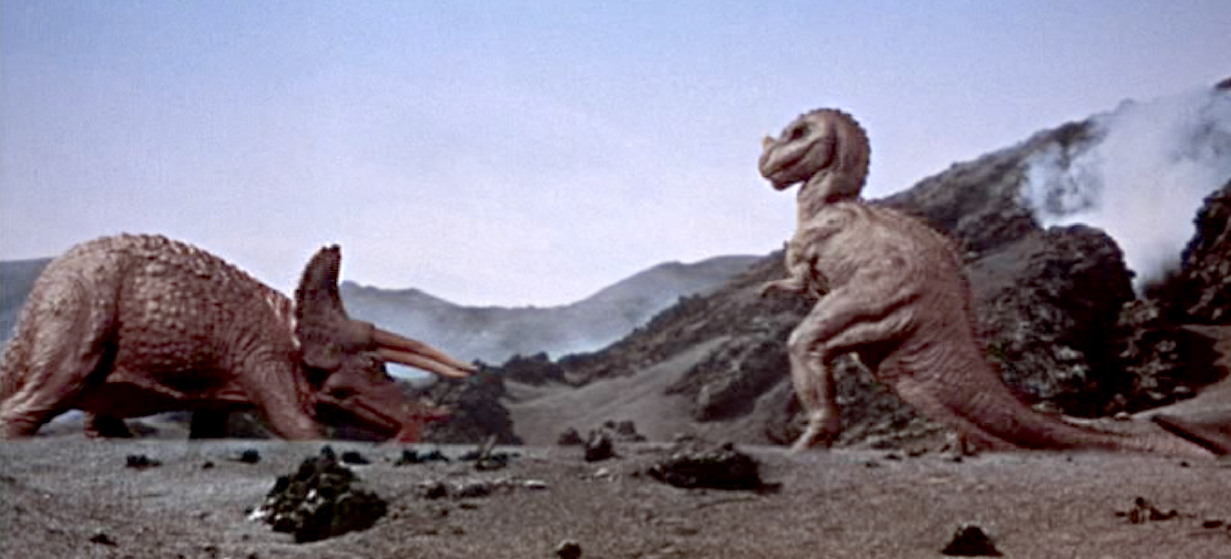 One Million Years BC Triceratops vs Ceratosaur resin model ...