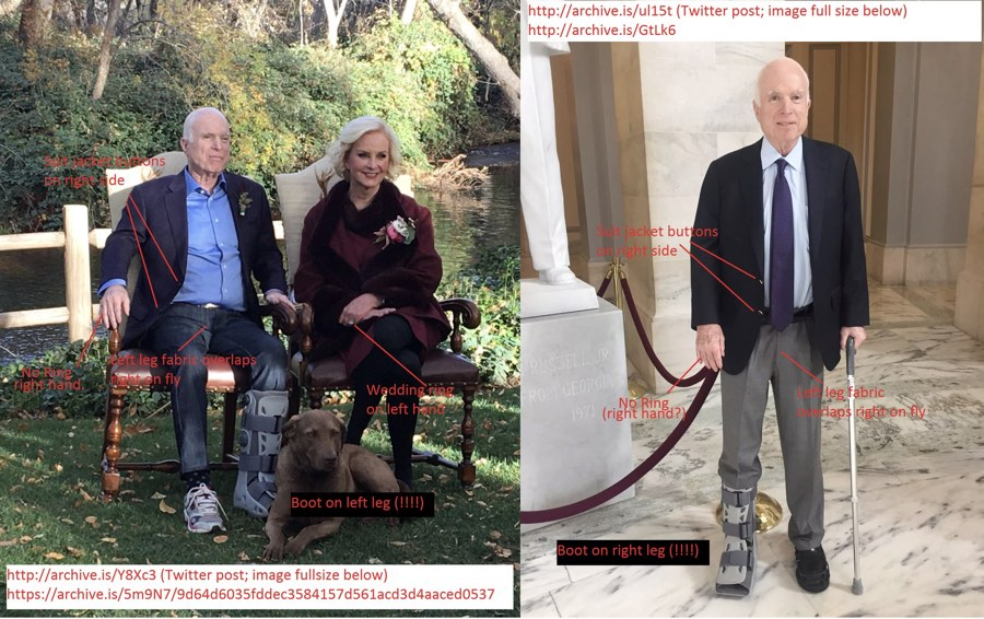 No Reason for Dark Rumors About Sen. McCain's Walking Boot ...
