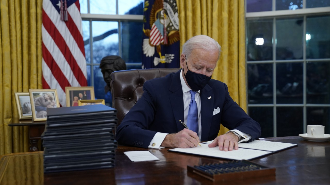 President Biden signs first executive orders - The ...