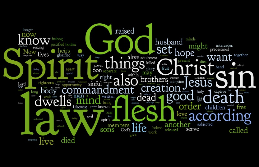 A Wordle from the Word (Romans 7 & 8, ESV) | theguide2life