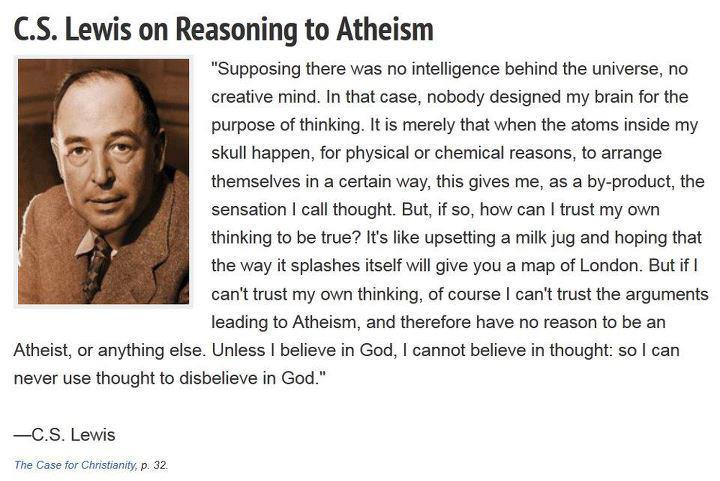 This CS Lewis quote totally DESTROYS atheist's logic - The Horn News
