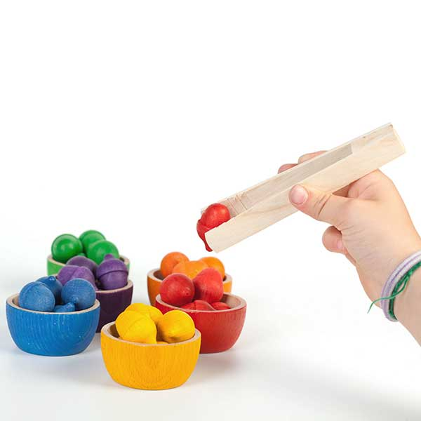 Bowls and Acorns Sorting Game